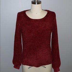 NWT! BB Dakota Red Chenille Sweater!